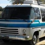 Blue & White Motorhome